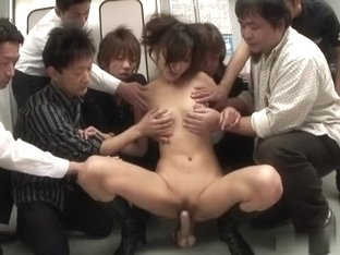 Horny Japanese slut Asami Yoshikawa in Best JAV uncensored Gangbang scene
