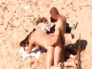 Beach sex right after swimming