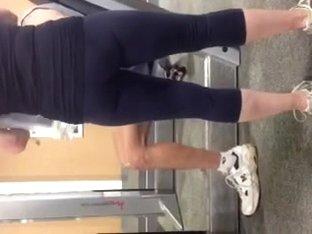voyeured tight gym ass