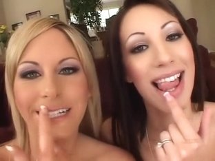 Incredible pornstars Chloe Morgan and Courtney Simpson in best group sex, facial sex video