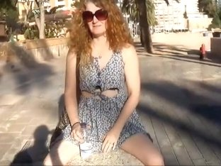 Daisy mini skirt no panties upskirt public pussy flashing