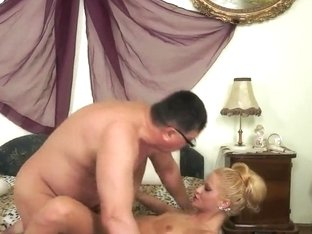 Old pervert is fucking with Chary Kiss