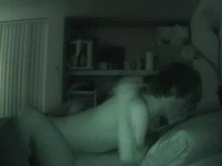 Amateur couple night vision sex