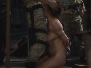 Hot Japanese milf is in military uniform for sex