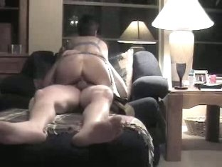 Babe sets her ass on dick