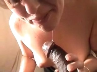 White mature I'd like to fuck taking darksome cum in her face hole