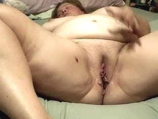 Plump wife getting off
