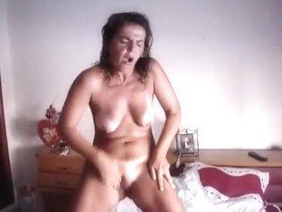 Hubby films masturbating hairy wife