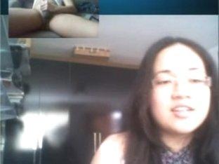 cum for japanese hotty feet on skype omegle