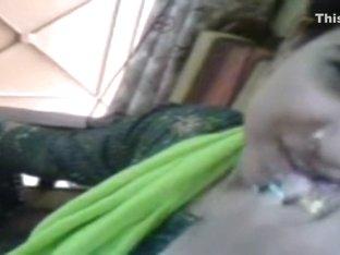 Adorable Pakistani wife kisses her fashionable spouse