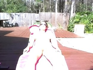 WEBCAM Halloween Costumes Outdoor Sunbathing