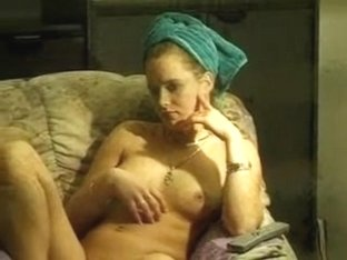 window voyeur-girl masturbates