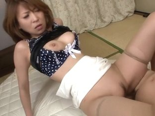 Busty MILF taking care of two men