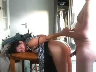Wife hardfucked from behind
