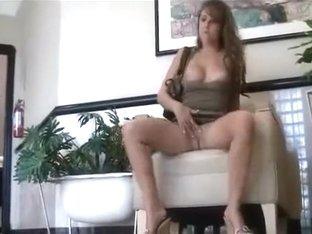 Playful girl masturbating in public