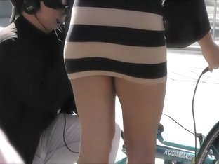 Upskirt of a greek super model