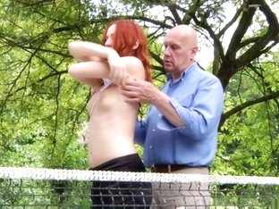 Crazy pornstar Eva Berger in horny outdoor, redhead xxx clip