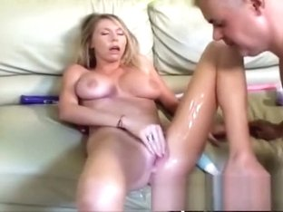 Busty babe Brynn Tyler spreads her legs and squirts all over the place