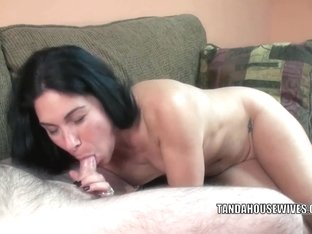 Petite housewife Cleo Leroux takes a dick in her tiny twat