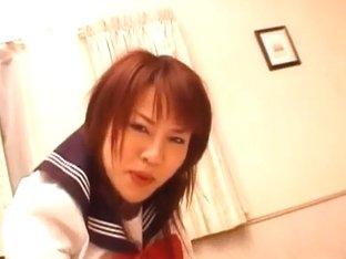 Rei Himekawa, hot schoolgirl, nailed in hardcore