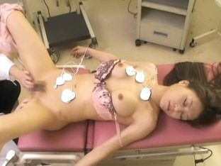 Cute Japanese creamed well during medical examination