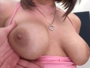 Young Nella Jay revals her knockers at interview