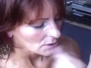 Pierced Granny In Dark Acquire's Her Fill
