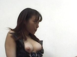 Japanese in latex cock sucking and fucked hardcore in her slit