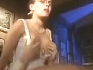 Nerdy busty blonde fucked and facialized