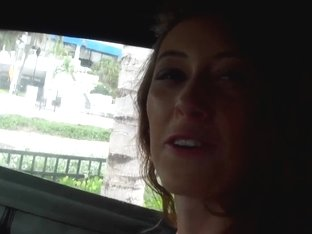 Dexlynn rides a car and a cock at the same time