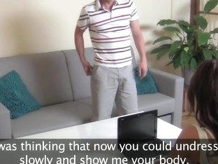 FemaleAgent HD MILF exploits shy guy in casting