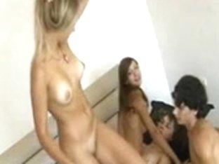 Irina and Olya in Group Sex