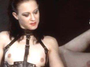 Brunette Hair femdom hanged tugjob
