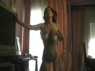 Breasty latin babe fucking standing