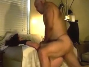 DRAPED CHAIR DADDY DOES DOGGY DICKIN DEMONSTRATION