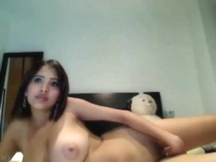 Booby Latina Tweaks Her Beaver
