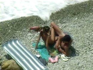 Sexy Couple having fun at nude beach