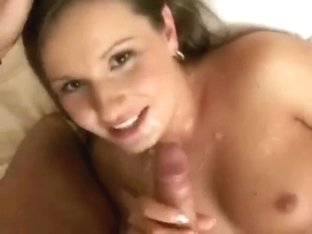 Horny Cheating Wife Blowing my Stick and getting a Cumshot
