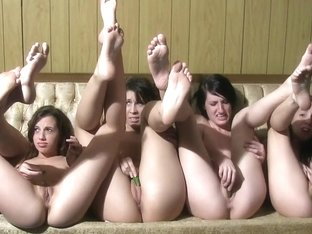 A bunch of very fresh college pussy