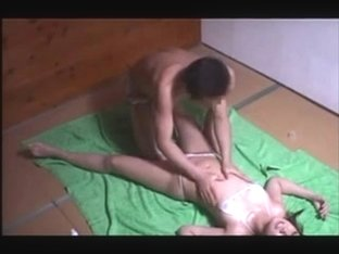 Swimsuit Model seduced with massage