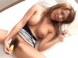 Exotic Japanese girl in Horny JAV uncensored Masturbation clip