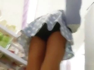 Asian teen upskirt