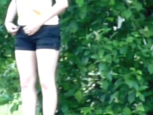 Kinky girl slid down shorts and pissed on spy cam free