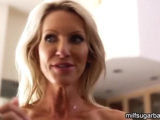 Busty Milf Emma Starr showering after sex