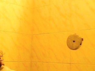 Public toilet has a spy cam filming pissing women