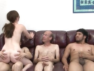 Amber Rayne in My Hairy Gang Bang #07, Scene #01