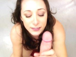 Pornstar Kaylynn stroking hard cock pov