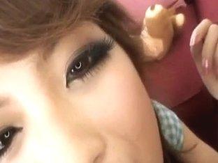 Aiko Nagai with big assets sucks boner until gets cum i