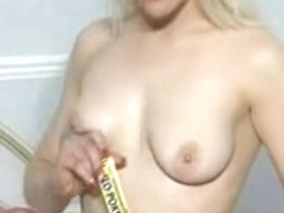 British Blond Wench plays with herself in various scenes