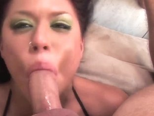 Hardcore throat fuck of lusty Eva Angelina